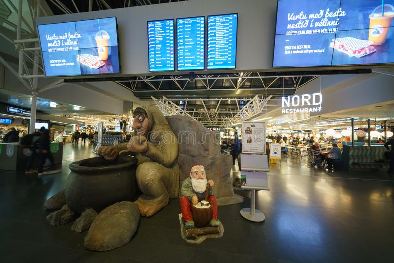 Internationaler Flughafen Keflavik, Island lizenzfreie stockbilder