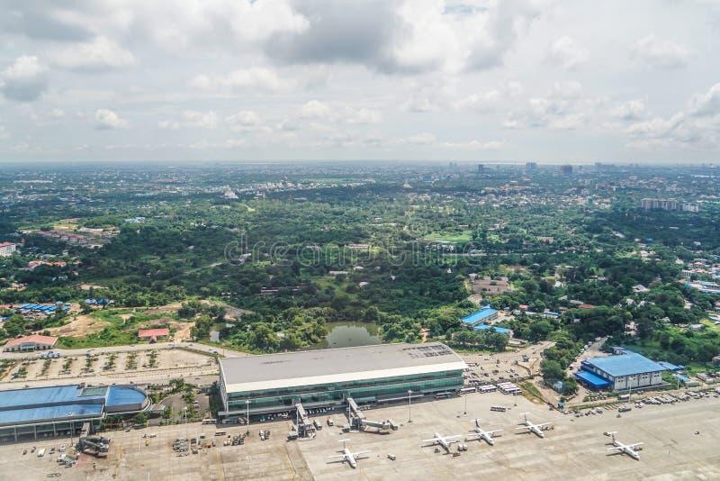 Internationaler Flughafen Ranguns stockbilder