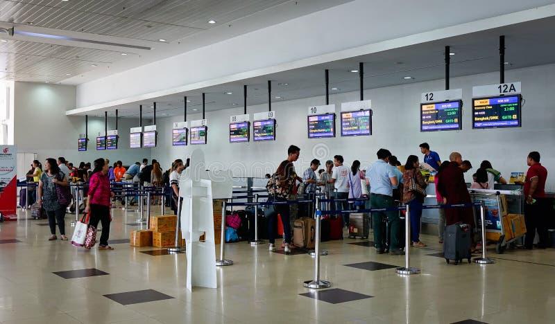 Internationaler Flughafen Ranguns auf Myanmar stockbild