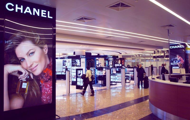 Internationaler Flughafen Sheremetyevo zollfrei stockfotografie