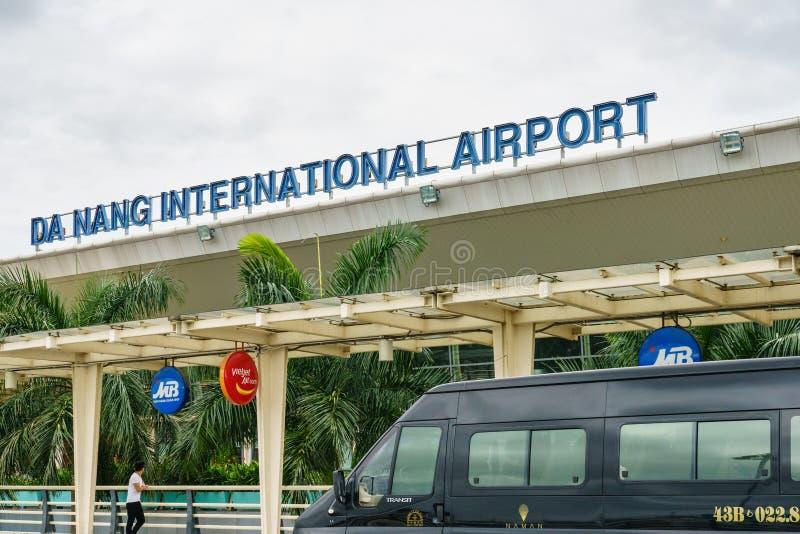 Internationaler Flughafen Vietnams Danang stockbilder