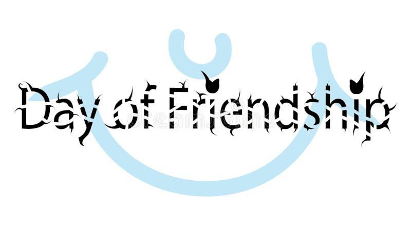 Internationaler Freundschaftstag lizenzfreie abbildung