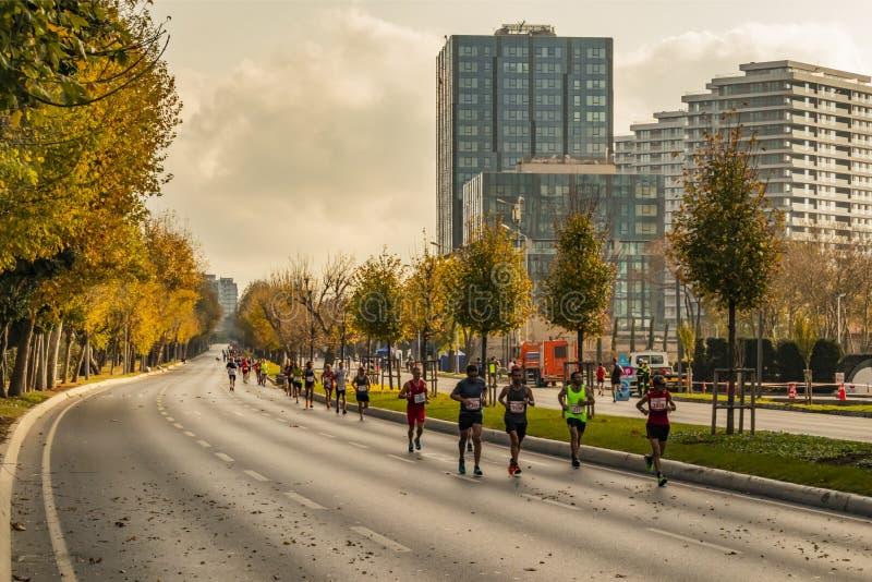 40. internationaler Istanbul-Marathon und -athleten lizenzfreie stockfotos