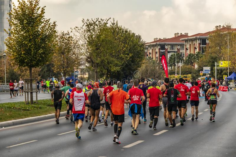 40. internationaler Istanbul-Marathon und -athleten lizenzfreie stockfotos