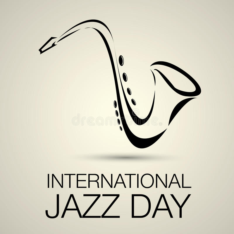 Internationaler Jazztagesvektor stock abbildung