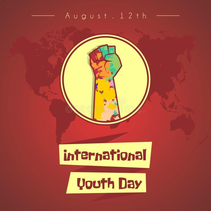 Internationaler Jugend-Tagesvektor-Entwurf stock abbildung