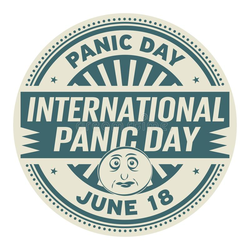 Internationaler Panik-Tag lizenzfreie abbildung