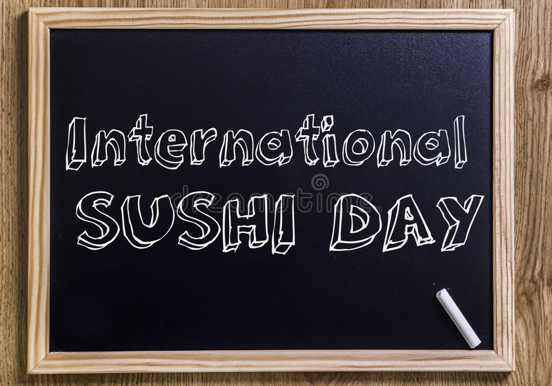 Internationaler Sushi-Tag vektor abbildung