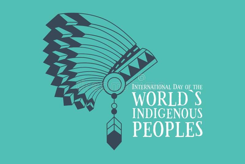 Internationaler Tag der Welteingeborenen Völker lizenzfreie abbildung