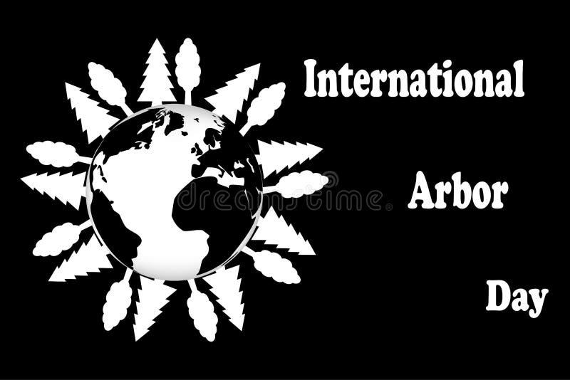 Internationaler Tag des Baums vektor abbildung