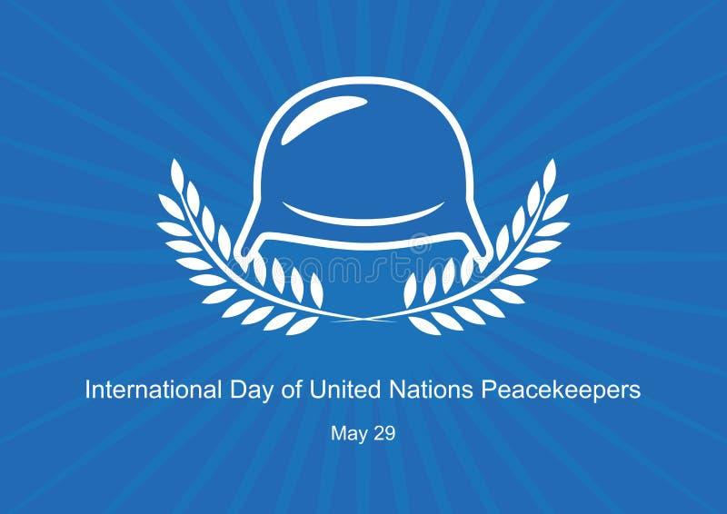 Internationaler Tag des Friedenstruppevektors der Vereinten Nationen stock abbildung