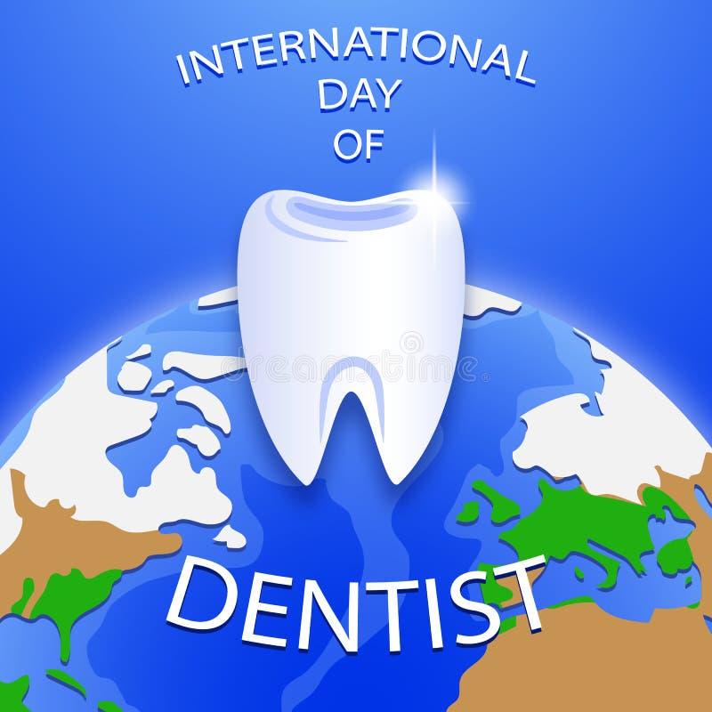 Internationaler Tag des Zahnarztes Happy Dentist Day vektor abbildung