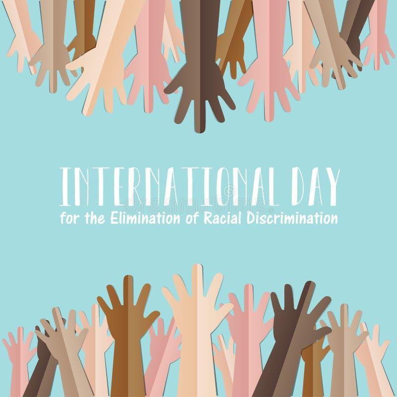 Internationaler Tag für die Beseitigung der Rassendiskriminierung vektor abbildung