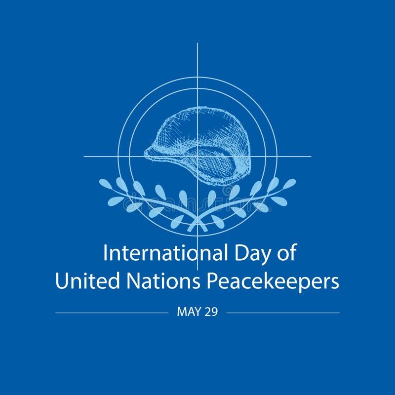 Internationaler Tag von Friedenstruppen der Vereinten Nationen vektor abbildung