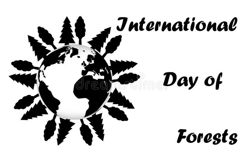 Internationaler Tag von Wäldern vektor abbildung