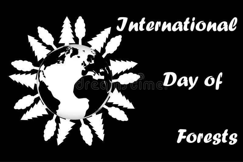 Internationaler Tag von Wäldern stock abbildung
