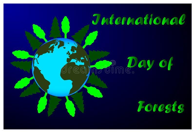 Internationaler Tag von Wäldern lizenzfreie abbildung