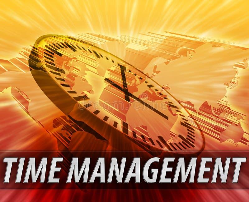 Internationaler Zeitmanagementhintergrund stock abbildung