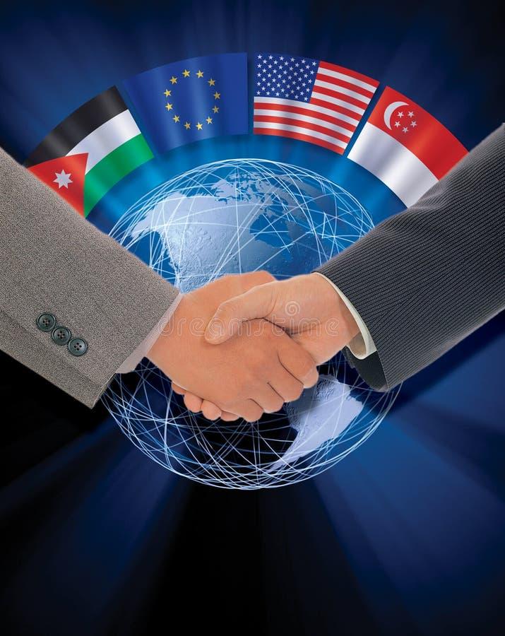Internationales Abkommen stock abbildung