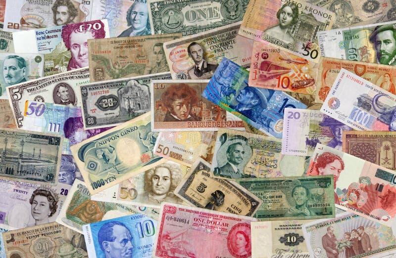 Internationales Bargeld lizenzfreie stockfotos