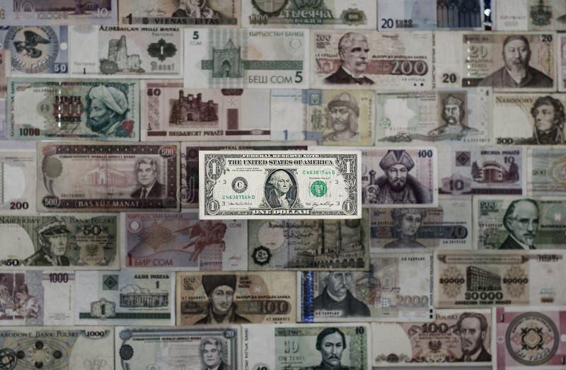 Internationales Bargeld Dollar ` s Herrschaft lizenzfreie stockfotografie
