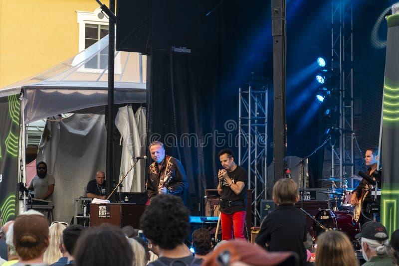 Internationales Blau-Festival Tremblant stockbild