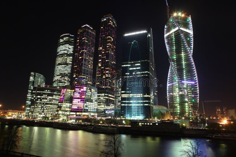 Internationales centr Geschäft der Wolkenkratzer-Stadt stockfoto