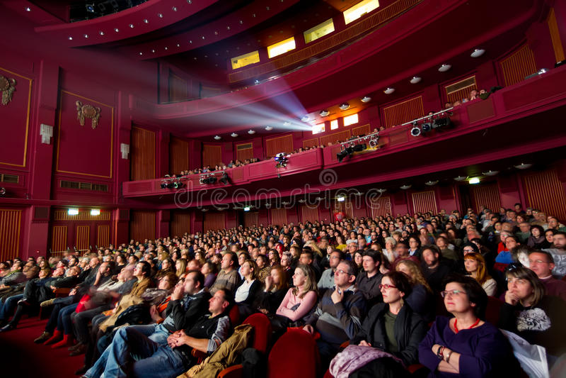 55. internationales Film-Festival Saloniki an Olympions-Kino stockfoto