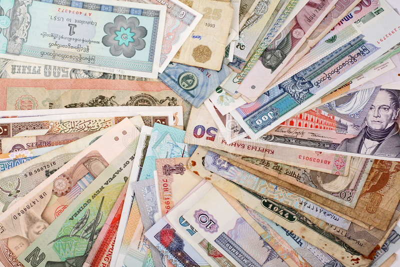 Internationales Finanzwesen lizenzfreies stockbild