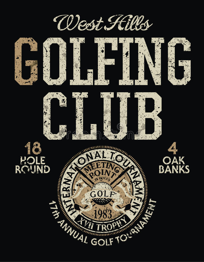 Internationales Golfturnier lizenzfreie abbildung
