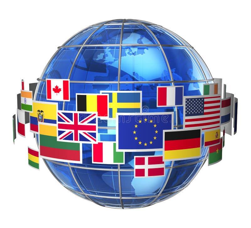 Internationales Kommunikationskonzept lizenzfreie abbildung