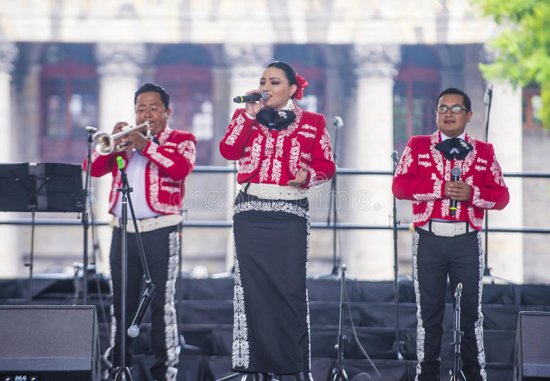 Internationales Mariachi- u. Charros-Festival stockbilder