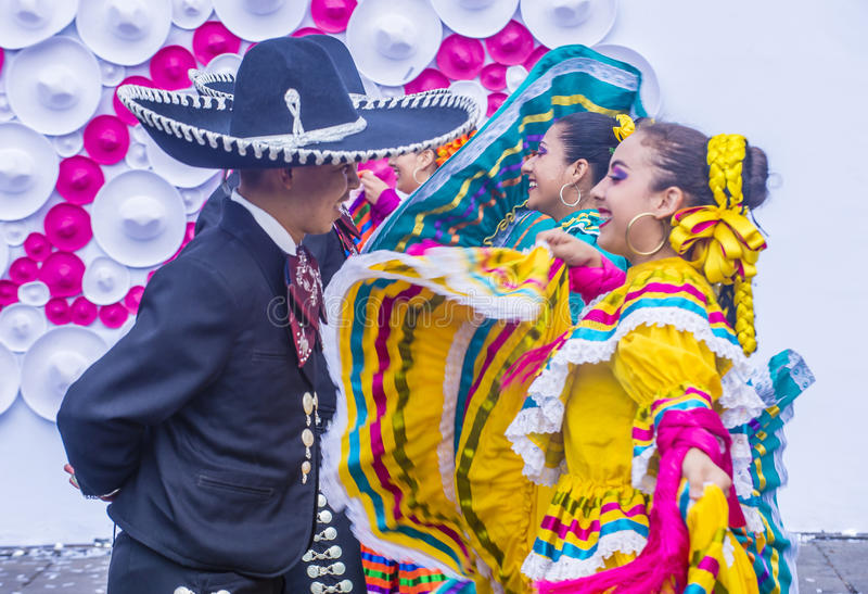 Internationales Mariachi- u. Charros-Festival stockfotos