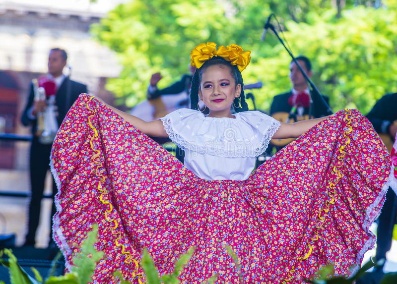 Internationales Mariachi- u. Charros-Festival stockbild