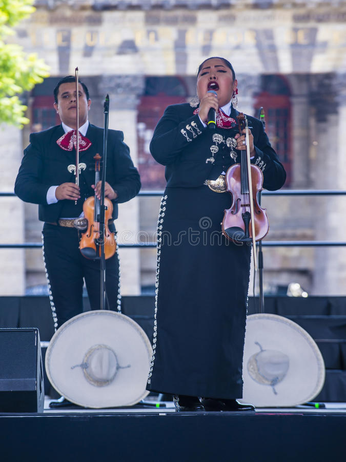 Internationales Mariachi- u. Charros-Festival stockfoto