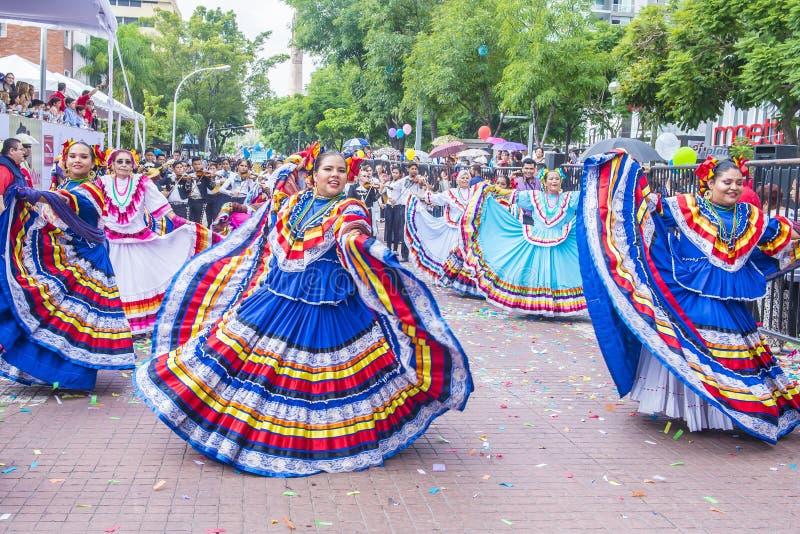 Internationales Mariachi- u. Charros-Festival stockbilder