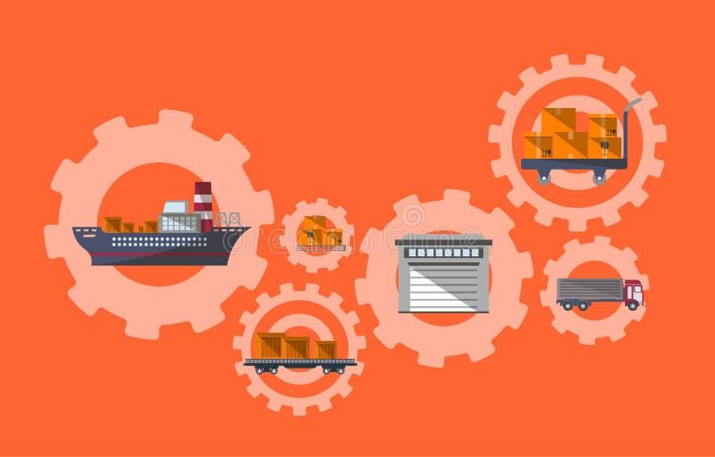 Internationales Porto und logistisches Management stock abbildung