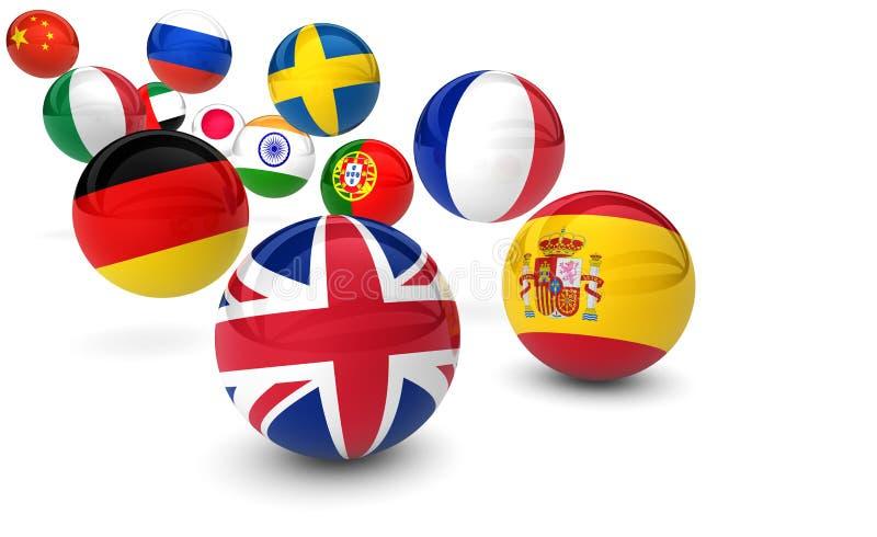 Internationell affär för språkskola royaltyfri illustrationer