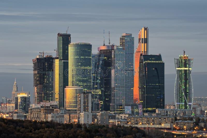 Internationell affärsmitt för Moskva - Moskva-stad arkivfoto