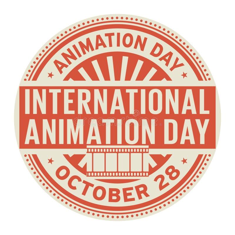 Internationell animeringdag Oktober 28 vektor illustrationer