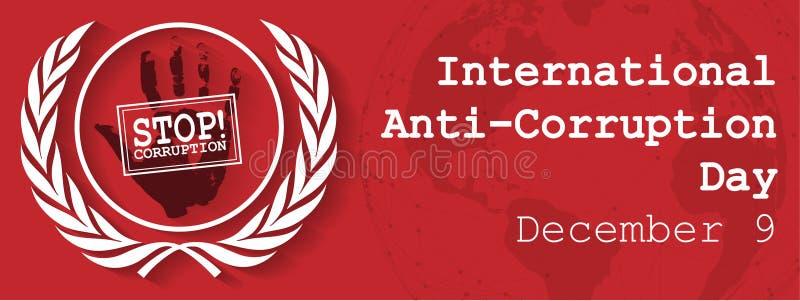 Internationell Anti--korruption dag stock illustrationer