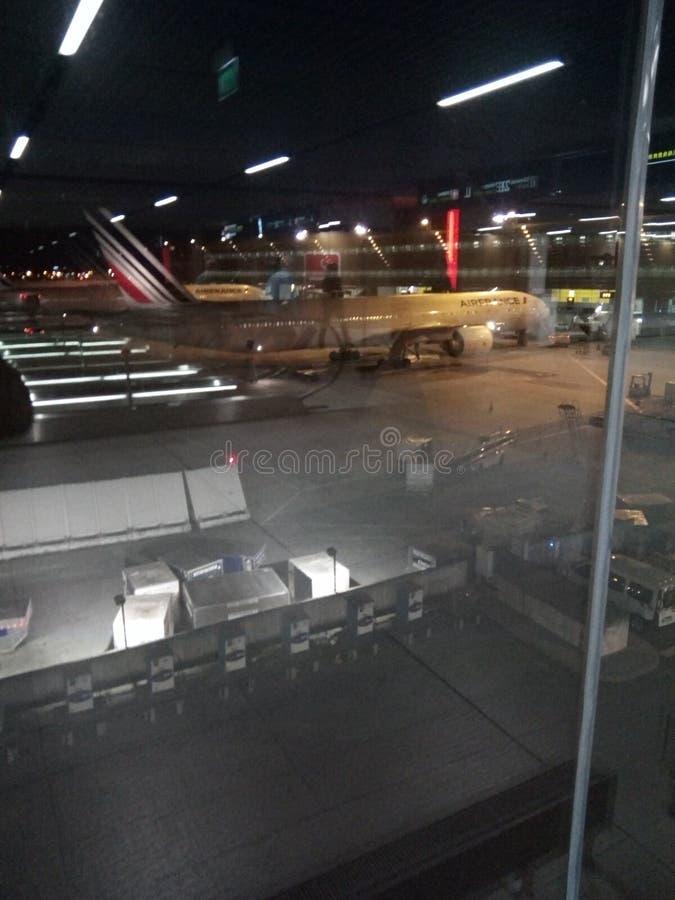 Internationell CDG-flygplats arkivfoton