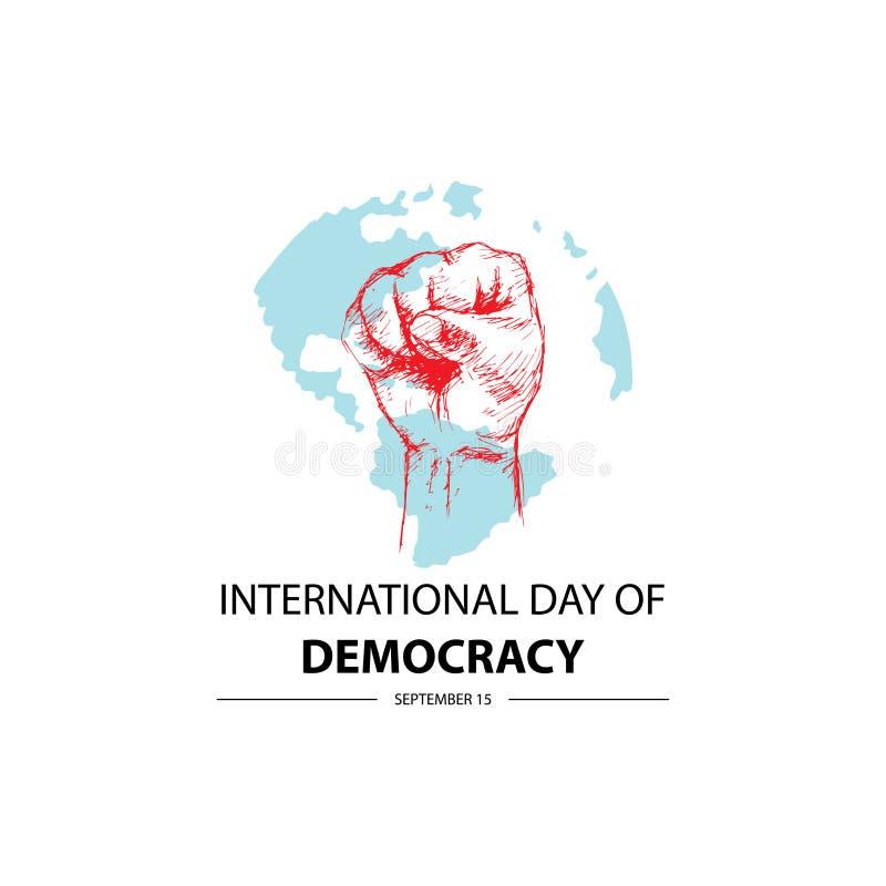 Internationell dag av demokrati stock illustrationer
