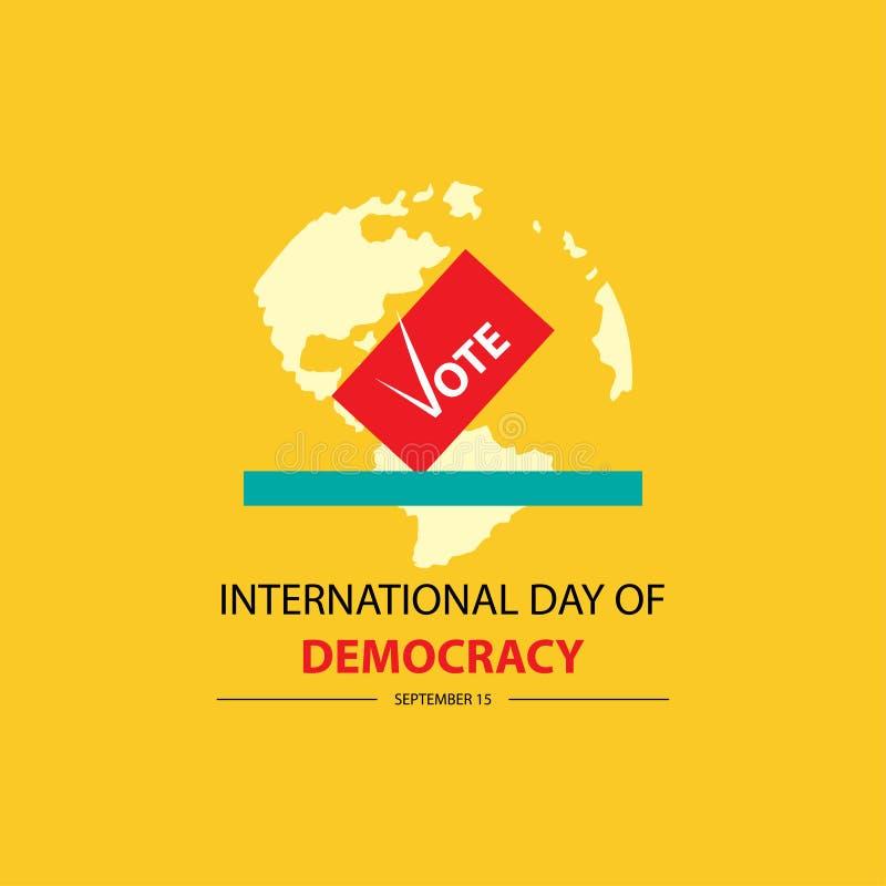 Internationell dag av demokrati royaltyfri illustrationer