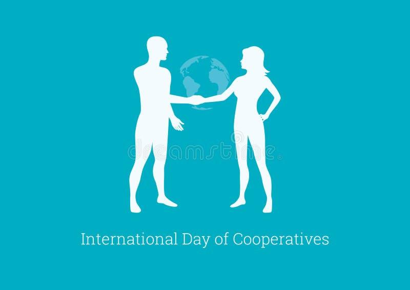 Internationell dag av kooperativvektorn royaltyfri illustrationer