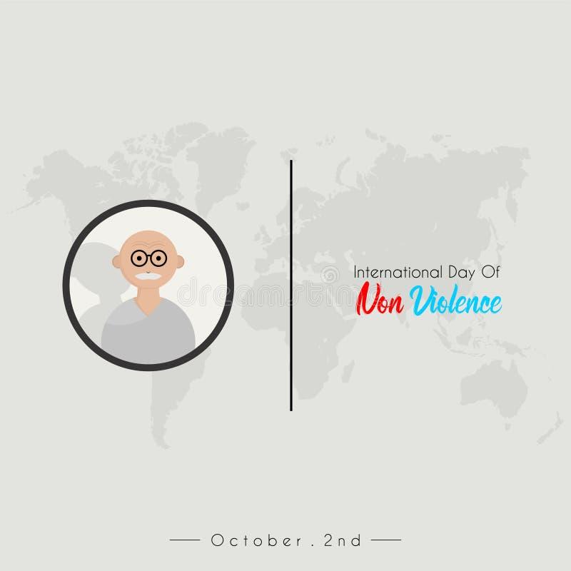 Internationell dag av Non våld vektor illustrationer