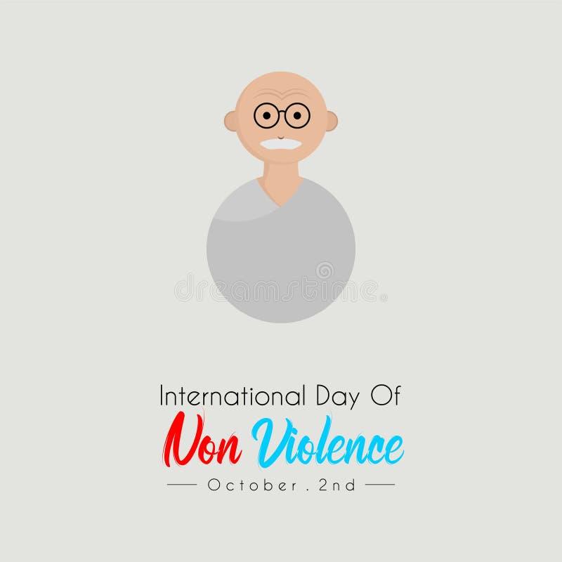Internationell dag av Non våld stock illustrationer