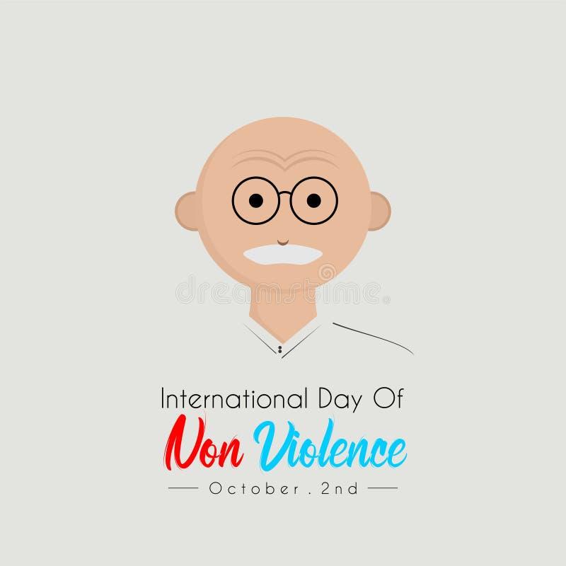 Internationell dag av Non våld royaltyfri illustrationer