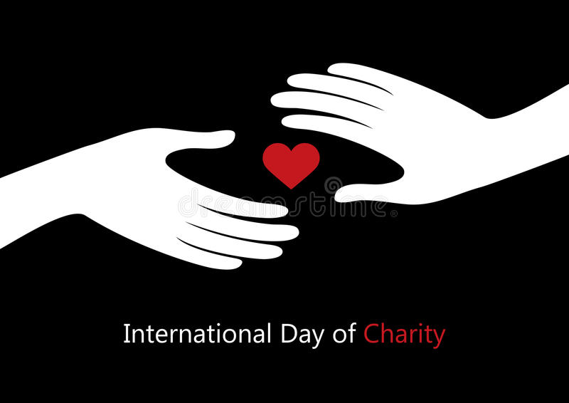 Internationell dag av välgörenhetvektorn vektor illustrationer