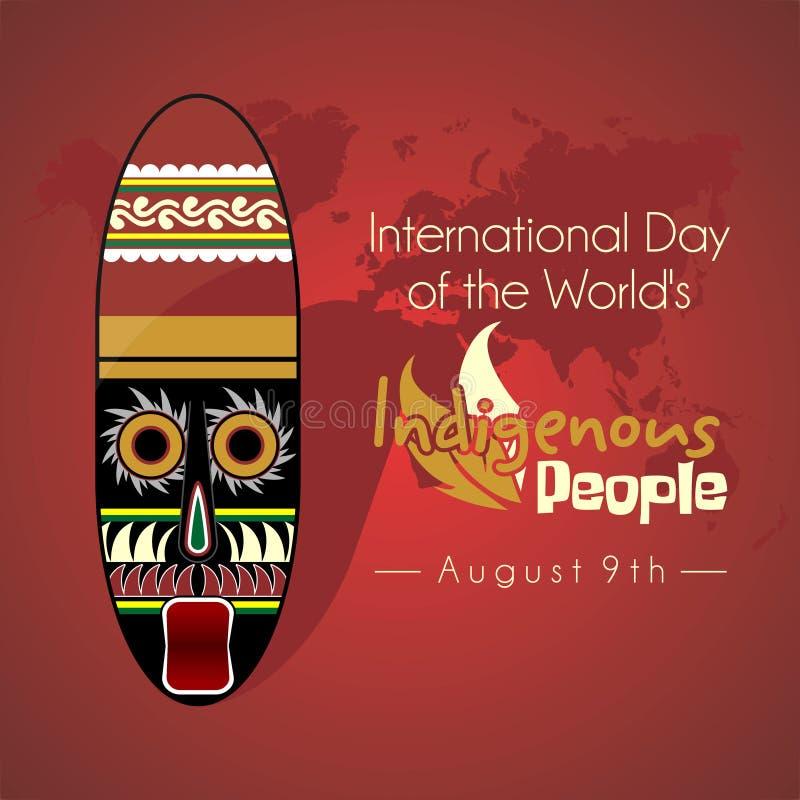 Internationell dag av världens urbefolkning stock illustrationer